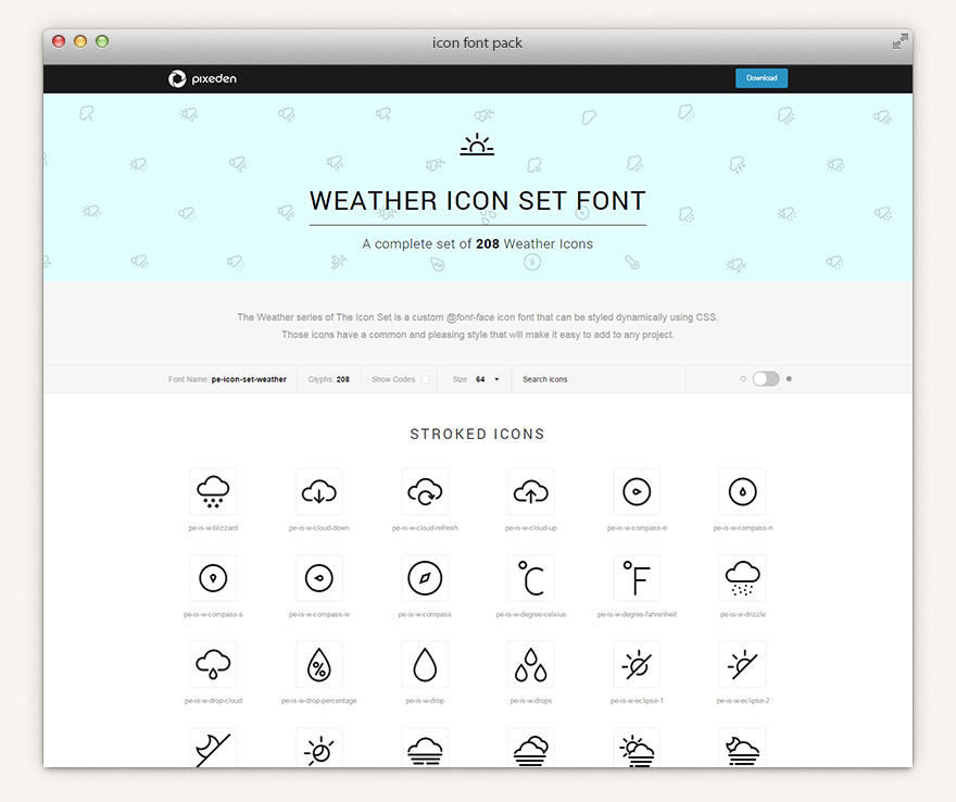 The Icons Font Set Weather