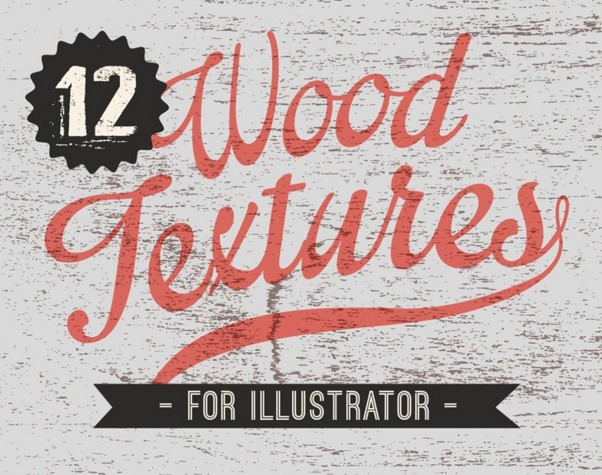 12 Wood textures for Illustrator