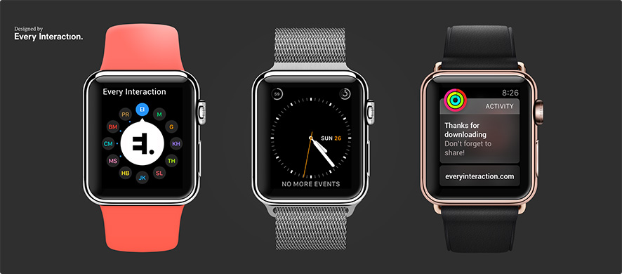 Apple Watch vector mockup PSD