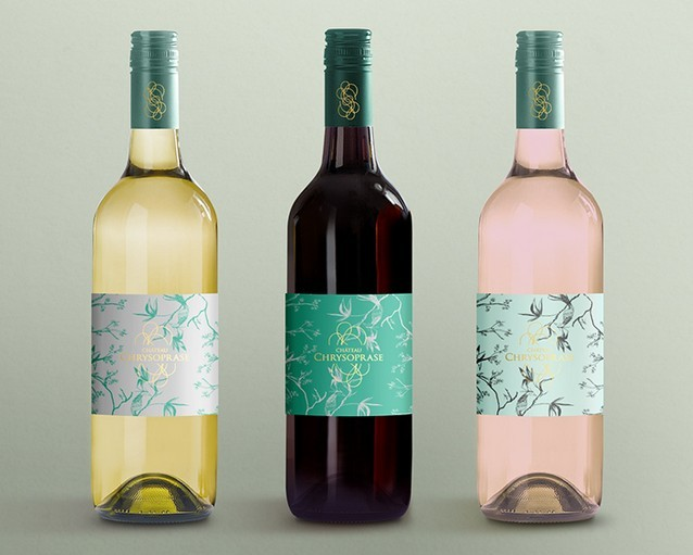 Free PSD display mockup for wine bottles