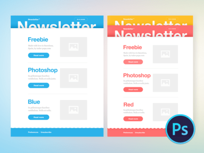 Multicolor Newsletter Freebie