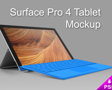 Realistic Surface 4 Pro Tablet PSD Mockup