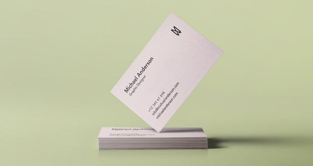 Psd Business Card Mock-Up Vol34