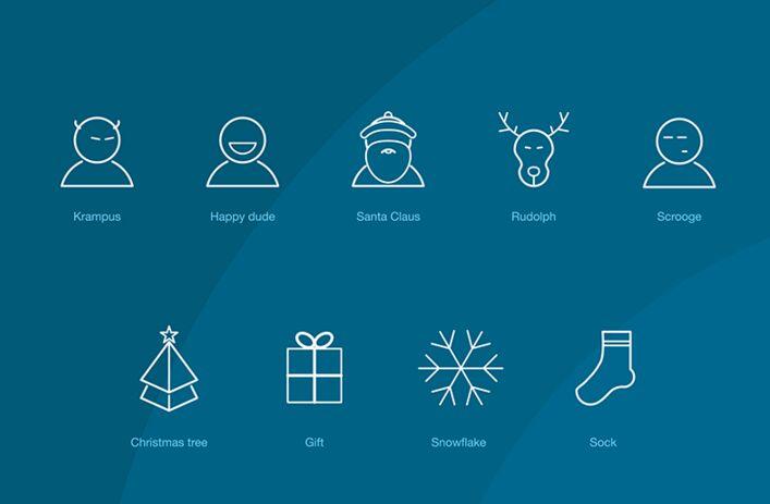 2016 Christmas icons