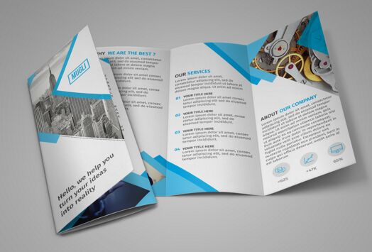 High Quality Free Flyer And Brochure Mockups Edition - Tri fold brochure template download