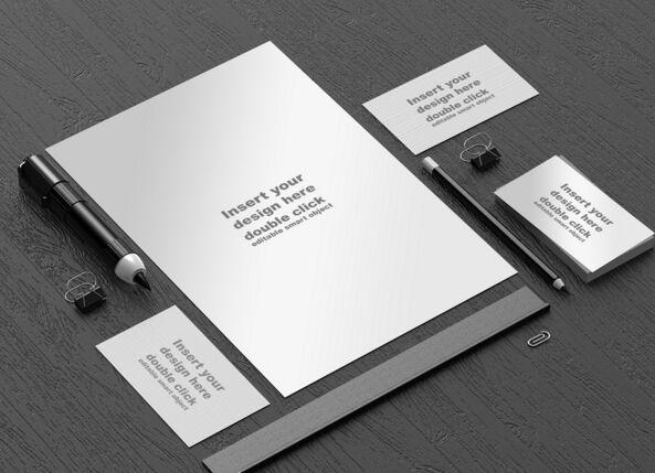 Free Black and White office mockup