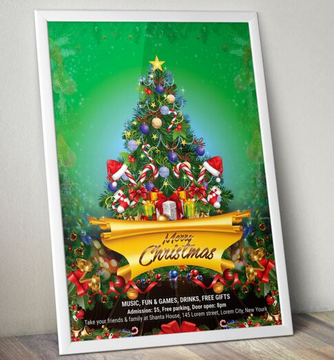 Free christmas flyer psd