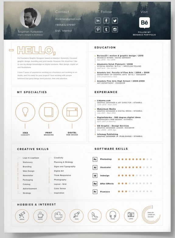 self promotion resume template modern templates word free download microsoft