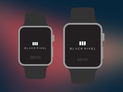 The Black Pixel Apple Watch PSD