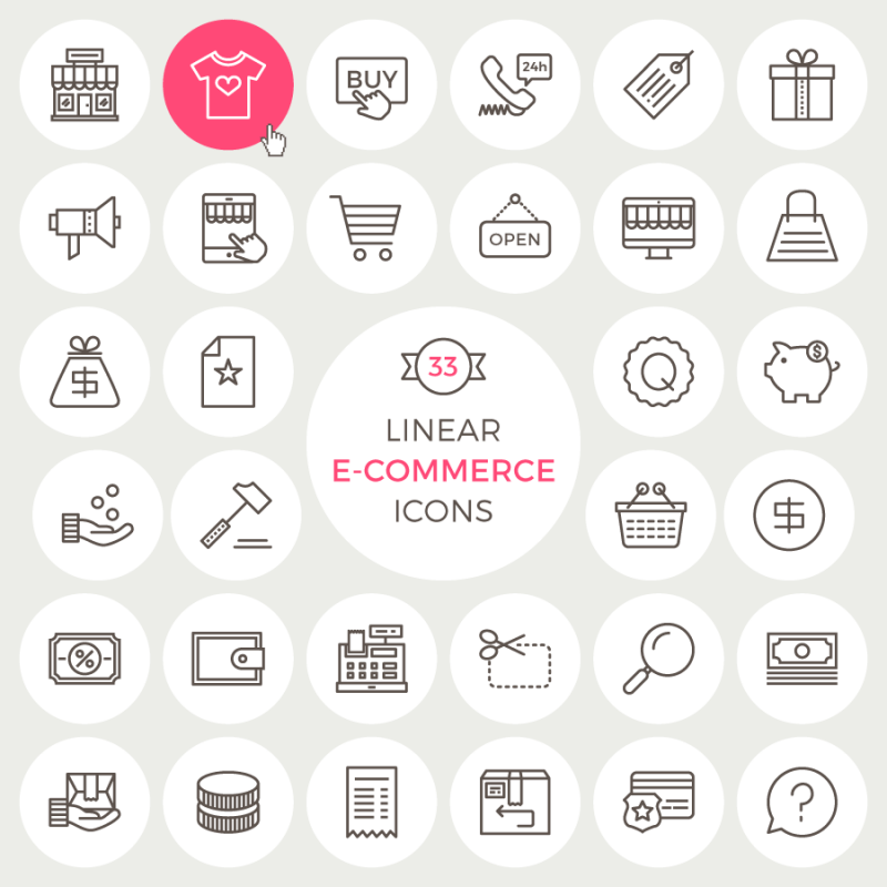 50 Best Shopping And E Commerce Icon Sets 2019 Update