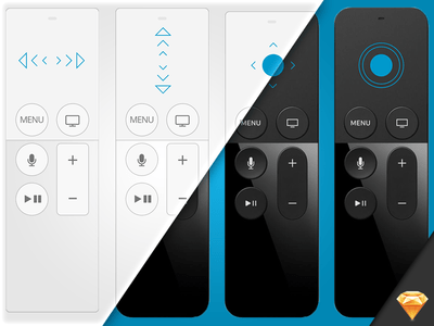AppleTV Remote Interactions Wireframe Kit