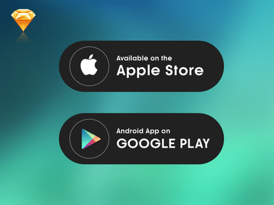 15+ Mobile App Download (App Store, Google Play) Button Templates
