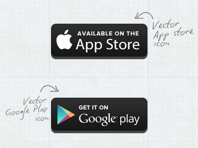 Free Vector Appstore Googleplay Button