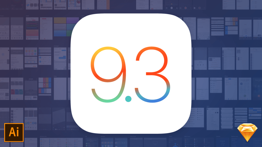 Free iOS 9.3 iPhone UI Kit for Illustrator and Sketch