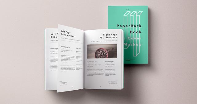 Paperback Psd Book Mockup Vol2