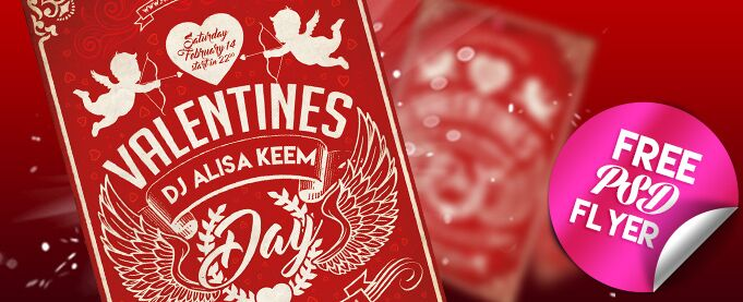 Valentines Day Free PSD Flyer Template