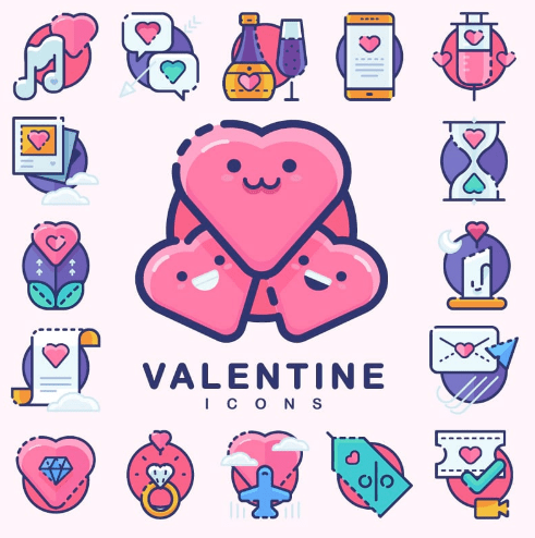 30 Sugar-Sweet Valentine's Day Icons