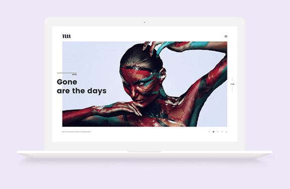Flat Macbook Mockup PSD