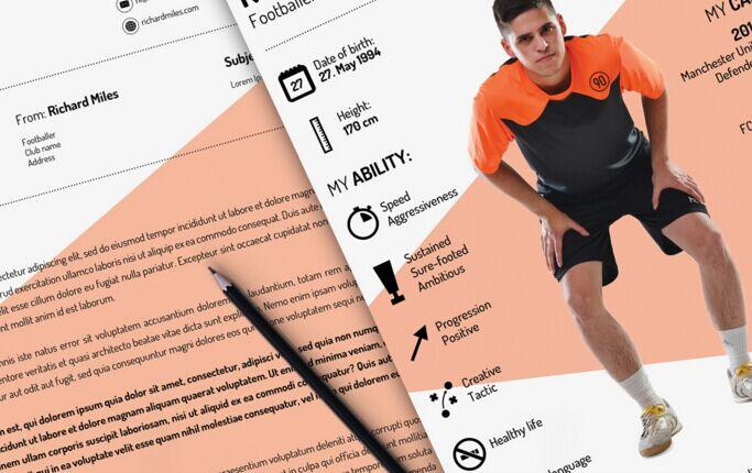 Free Sport Resume CV Template