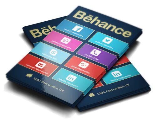 Windows Business Card PSD Template