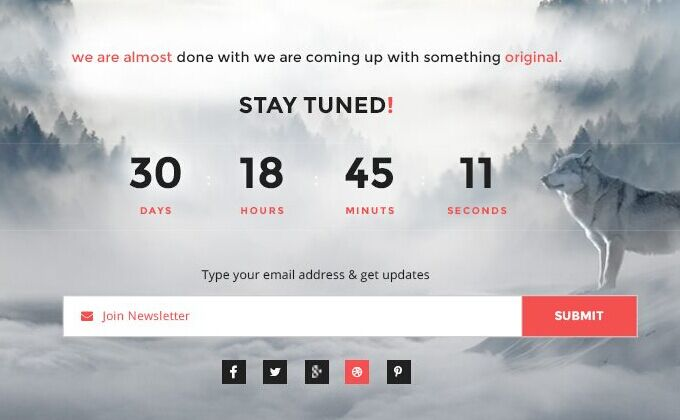Coming Soon page Psd Templates