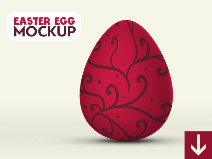 Free 3D Easter Egg Mockup