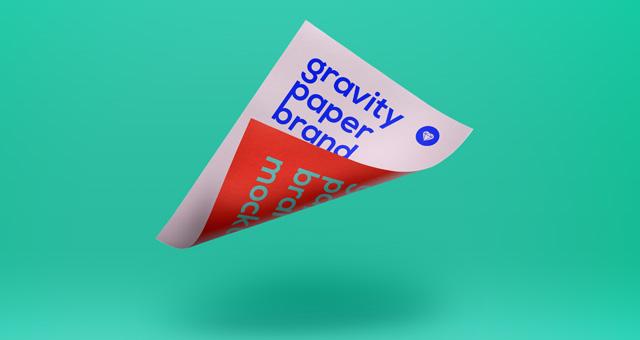 Gravity Psd Paper Mockup Vol2