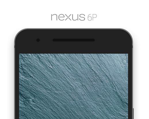 Nexus 6P Flat Phone Mockup