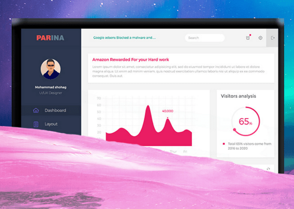 Parina Multipurpose Dashboard freebie