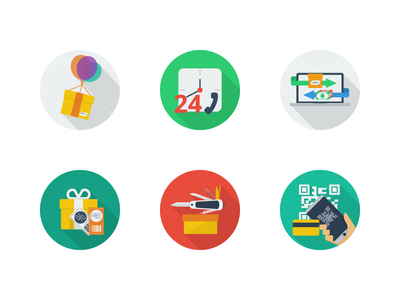 30-e-commerce-flat-icons