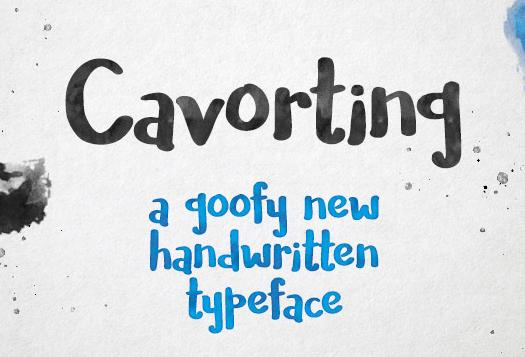 Cavorting - Handwriting Watercolor Font