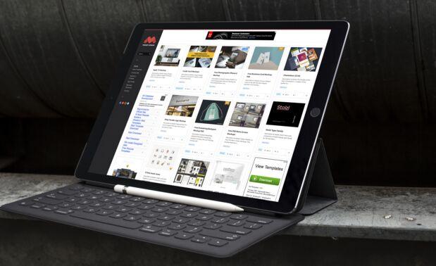 Free 12.9-inch iPad Pro Mockup Vol.1