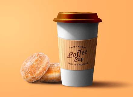 Paper Coffee Cup PSD Template