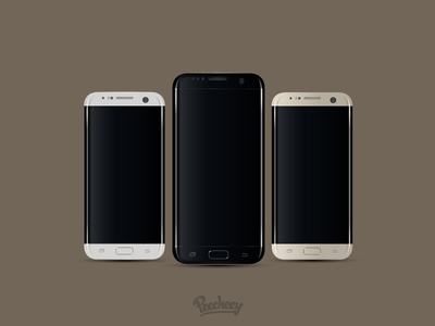 Samsung S7 realistic mockup design