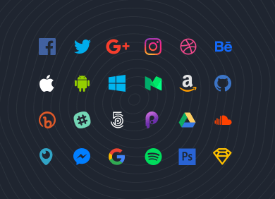 70 Flat Social Icons for Sketch