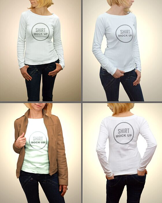 Free Woman Shirt Mock Up
