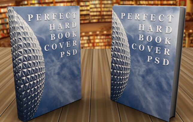 Hardcover Books Mockup