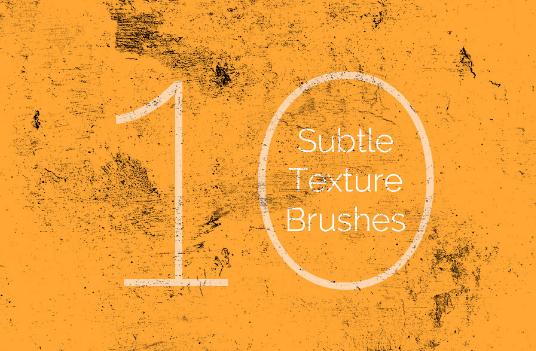 10 Free Subtle Texture Brushes
