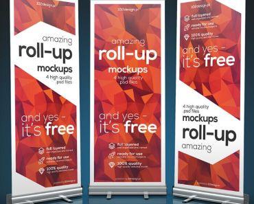 Free PSD - Roll-up mockup