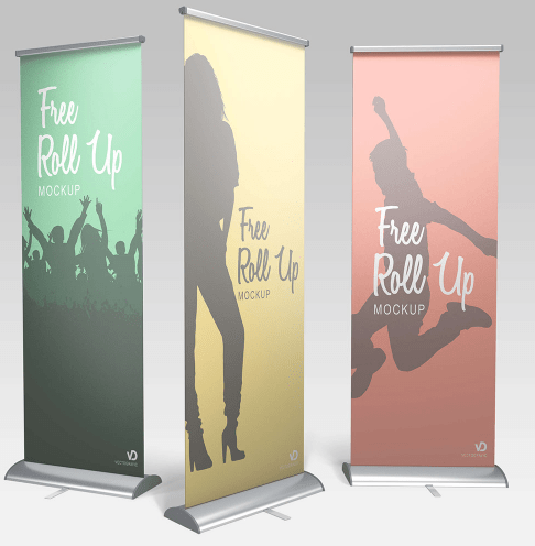 Free Roll Up Banner Mockup