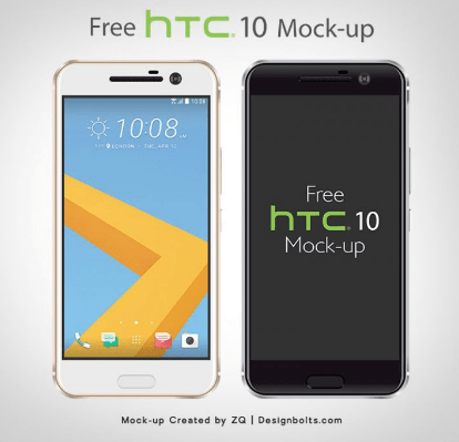 Free Vector HTC 10 Smartphone Mockup in Ai & EPS Format