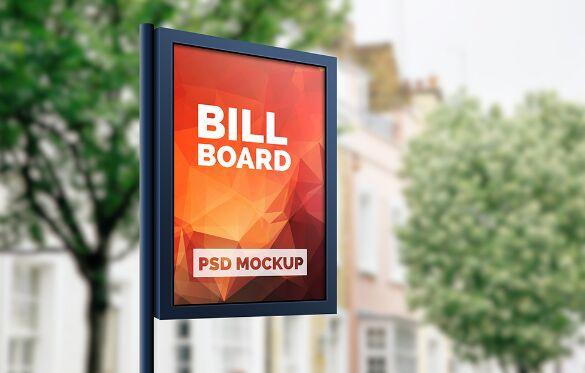 Outdoor Advertising Billboard Mockup PSD