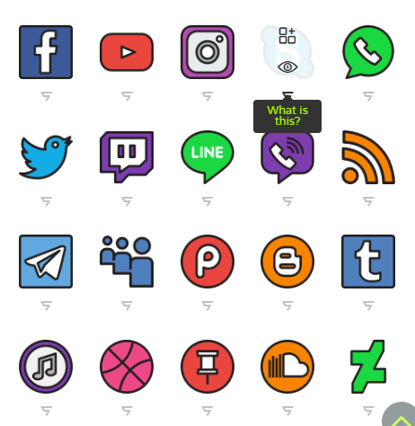 Social media icon logos