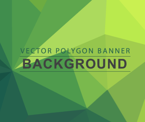 Vector Polygon Background Banners