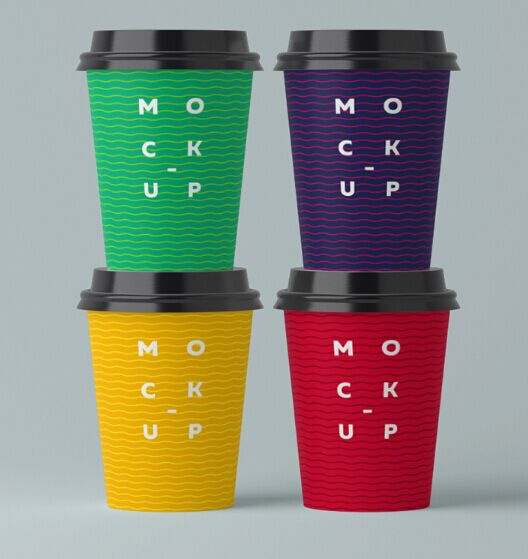 Free Paper Cups Mock-up