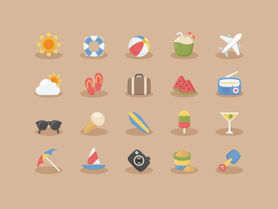 Vacation Time Icons
