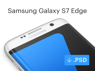 Free Samsung Galaxy S7 Edge Mockup [PSD]