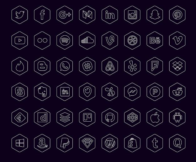 free-hexagonal-icon-set-ai