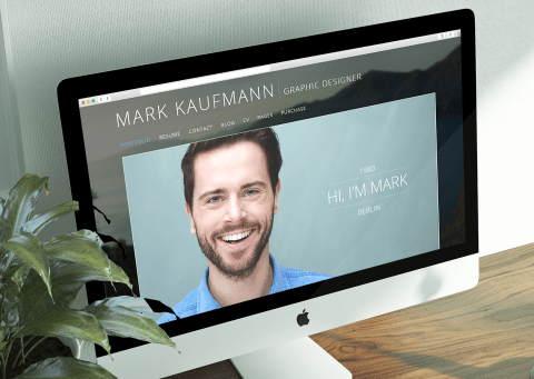 one page resume free psd download