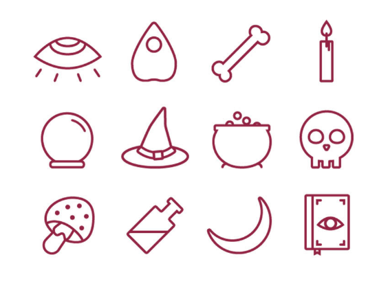 free-witchcraft-icon-set